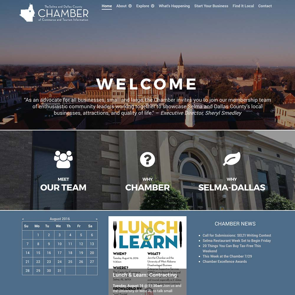 Selma & Dallas County Chamber of Commerce and Tourism Information